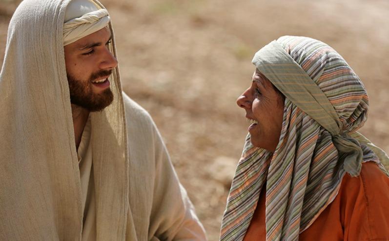 Иисус и исцеленная Им женщина