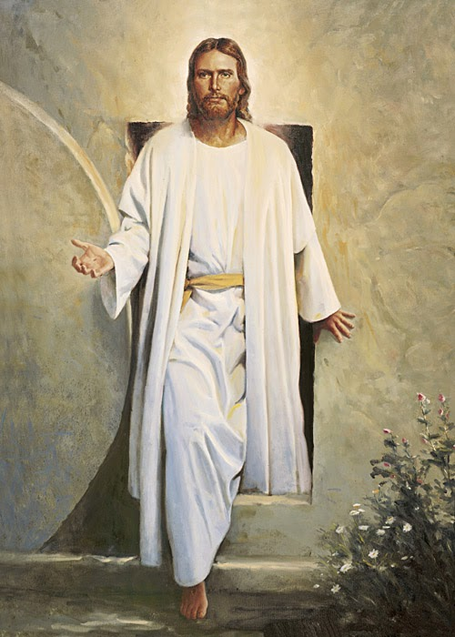 Воскресший Иисус выходит из гробницы