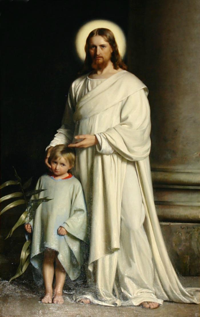 Христос и мальчик, Карл Блох