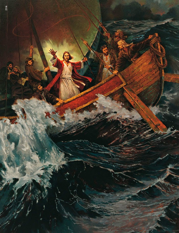 Христос в лодке усмиряет бурю