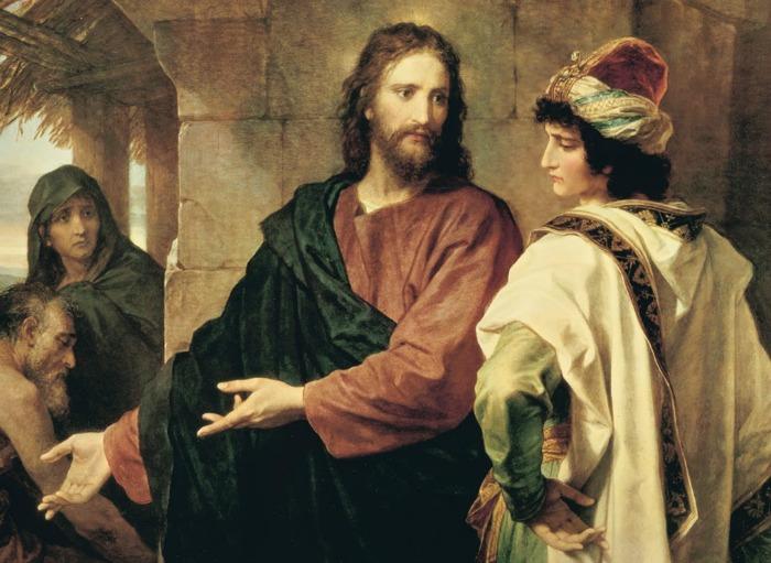 Христос и богатый юношаГенрих Гофман